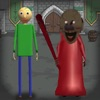 Red Granny and Green Baldi 2 App Icon