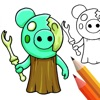 Piggy Coloring And Drawing! App Icon