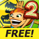 Jurassic 3D Rollercoaster Rush 2 FREE app icon