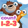 Pre-School Counting 123's with Bear and Duck iOS Icon
