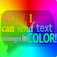 Colored Bubble Texting