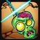 Swipe Zombie Head HD : Swipeout rope to free the farm app icon