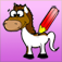 Horse Coloring Book for Girls: Learn to color a pony and horses in action app icon