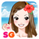 Beach Girl Make Up & Dress Up app icon