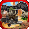 A Gorilla Thug Skateboarder Racing Game app icon