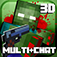 Pixel Survival: ONLINE Multi plusChat Weapon Gun Block Shooter app icon