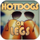 Hot dogs or legs skinny selfie ? popular meme edition iOS Icon