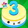 Free3s - A math puzzle game of cakes app icon