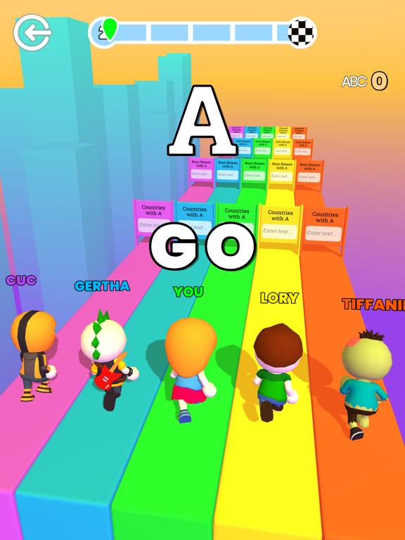 ABC Runner App Screenshot