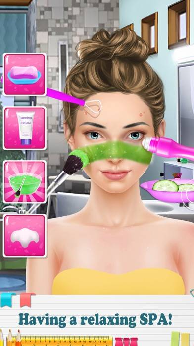 Back-to-School Makeup Games App Screenshot