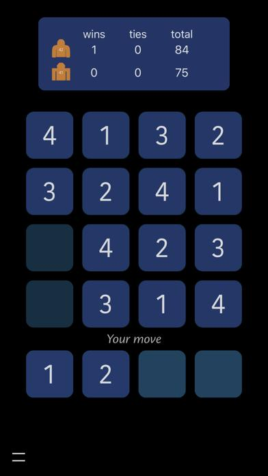 Botchee 4x4 Sudoku App Screenshot
