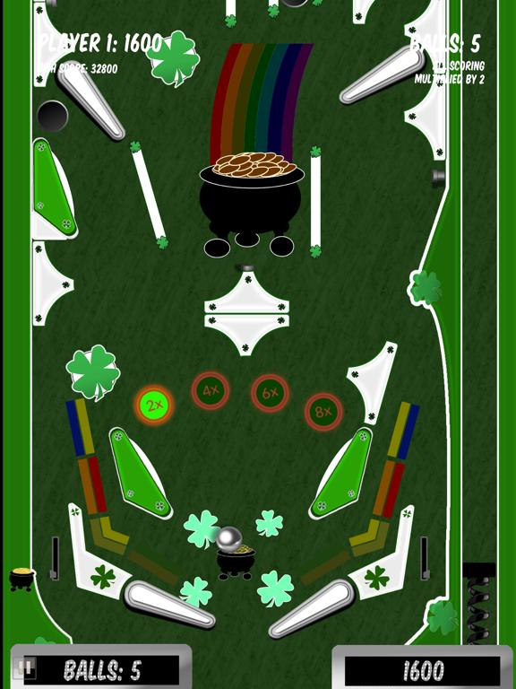 Lucky Shamrock Pinball App Screenshot