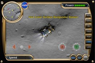 NASA Lunar Electric Rover Simulator App Screenshot