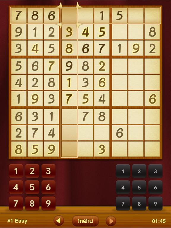 Sudoku Free HD App Screenshot