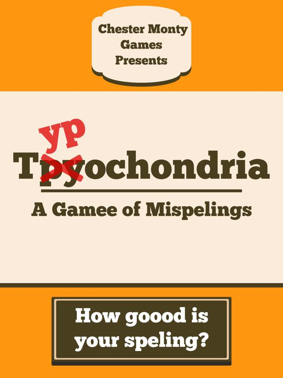 Typochondria App Screenshot